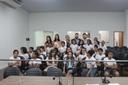 """Alunos da Escola Municipal Antônio Constante participam do projeto """"Escola do Legislativo"""""""
