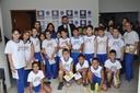 Alunos da Escola Sonho Meu participam do Projeto Escola do Legislativo durante sessão ordinária