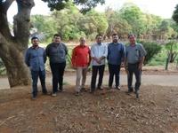 Amilton Filho e Jakson Charles vistoriam Central Parque Onofre Quinan