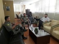 Amilton Filho recebe Major Cardoso, novo comandante do 4º Batalhão de Polícia Militar