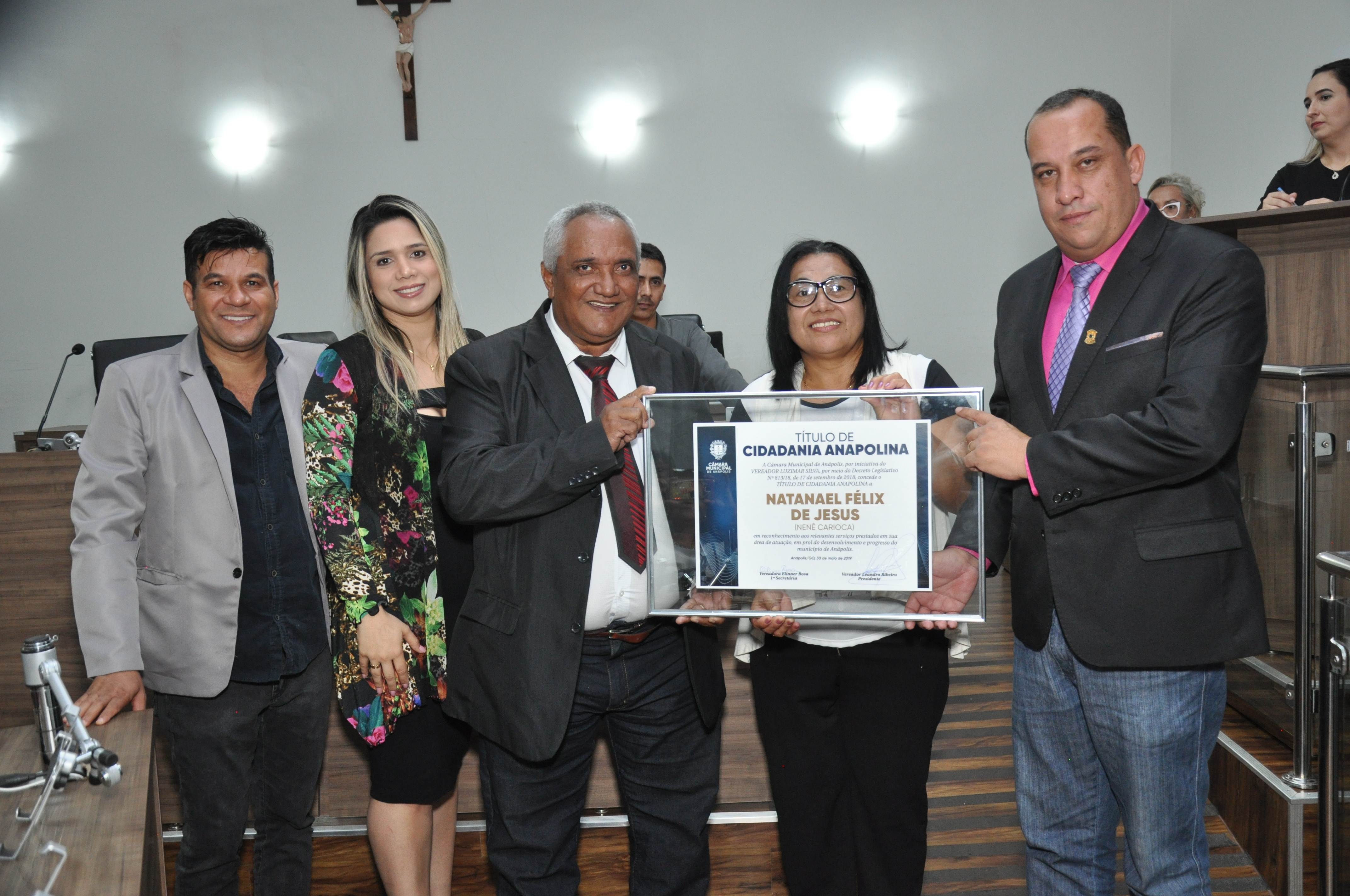 Câmara concede título de cidadania anapolina a Natanael Felix de Jesus, o Nenê Carioca