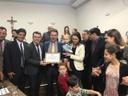 Câmara entrega Moção de Aplauso ao empresário Francisco Pontes, por atuação no Governo de Goiás