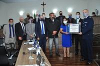 Comandante da Ala 2, coronel aviador Pestana, recebe título de cidadania anapolina