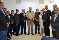 Comandante do 3º CRPM e delegado da Polícia Civil participam de sessão