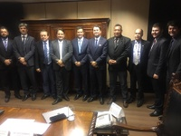 Comitiva de vereadores é recebida por ministro dos Transportes em encontro agendado por Leandro Ribeiro