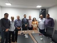 Deputado Federal Rubens Otoni fez visita ao presidente Leandro Ribeiro.