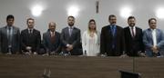 """Em posse da Mesa Diretora, presidente Leandro frisa que Legislativo é """"esteio da democracia"""""""