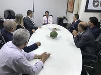 Integrantes da Mesa Diretora visitam Joaquim Alves de Castro Neto, presidente do TCM