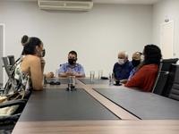 Leandro Ribeiro e Professor  Marcos recebem membros do Conselho Municipal de Cultura