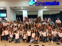 Leandro Ribeiro promove ação cultural e leva mais de 80 crianças ao cinema