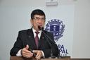 Lélio Alvarenga parabeniza presidente eleito do Conselho Municipal de Cultura