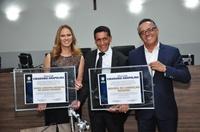 Maria Cristina Romero e Moisés de Carvalho Romero recebem título de cidadania anapolina