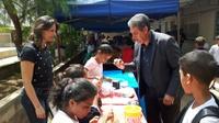 Pastor Elias visita 4º feira de Matemática em CEI do Jardim Esperança