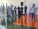 Vereadores acompanham inauguração da quadra poliesportiva da Escola Municipal Lena Leão