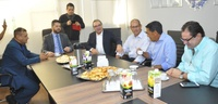 Presidente do PSDB goiano, prefeito Jânio Darrot visita Câmara Municipal