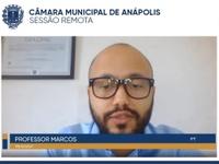 Professor Marcos defende três projetos de sua autoria que já tramitam na Câmara