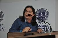 Professora Geli agradece carinho de vereadores e funcionários da Câmara por possível candidatura