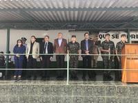 Professora Geli e Pastor Elias representam Câmara Municipal em comemoração ao Dia do Exército Brasileiro