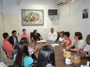 Professora Geli lidera reunião com Sintego e professores da rede estadual
