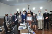 Paulo Maia e Eide Moreira recebem título de Cidadania, iniciativa da vereadora Geli Sanches