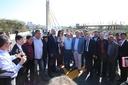 Vereadores acompanham liberação das pistas do viaduto da Avenida Brasil com Goiás