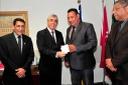 Vereadores convidam presidente do TJ-GO, desembargador Gilberto Marques, para receber Título de Cidadania Anapolina