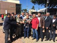 Vereadores participam de solenidade da Polícia Militar com entrega de cinco novas viaturas para cidade