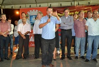 Vereadores prestigiam lançamento da duplicação da Avenida Cachoeira Dourada