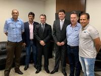 Vereadores se encontram com Secretário Estadual de Indústria e Comercio Wilder de Morais