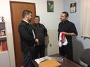 Vereadores visitam padre Rogério da Paróquia São Joaquim