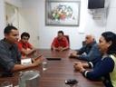 Vilma Rodrigues recebe feirantes, que reclamam de ambulantes irregulares